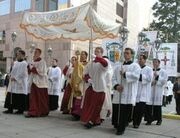 Procession with blessed sacrament 1