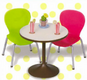 Cafe Tables - 2 - strawberry kiwi