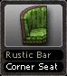 Rustic Bar Corner Seat