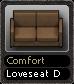 Comfort Loveseat D