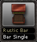 Rustic Bar Bar Single