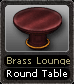 Brass Lounge Round Table