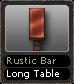 Rustic Bar Long Table