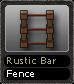 Rustic Bar Fence