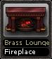 Brass Lounge Fireplace