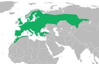 European common toad distribution