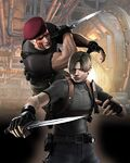 Resident-evil-4-wii-art-leon-krauser-knife-fight