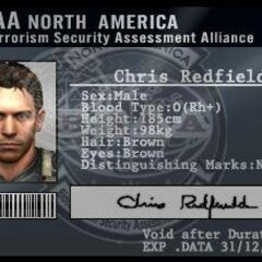 Chris' ID card - notice the eye color is brown instead of blue.