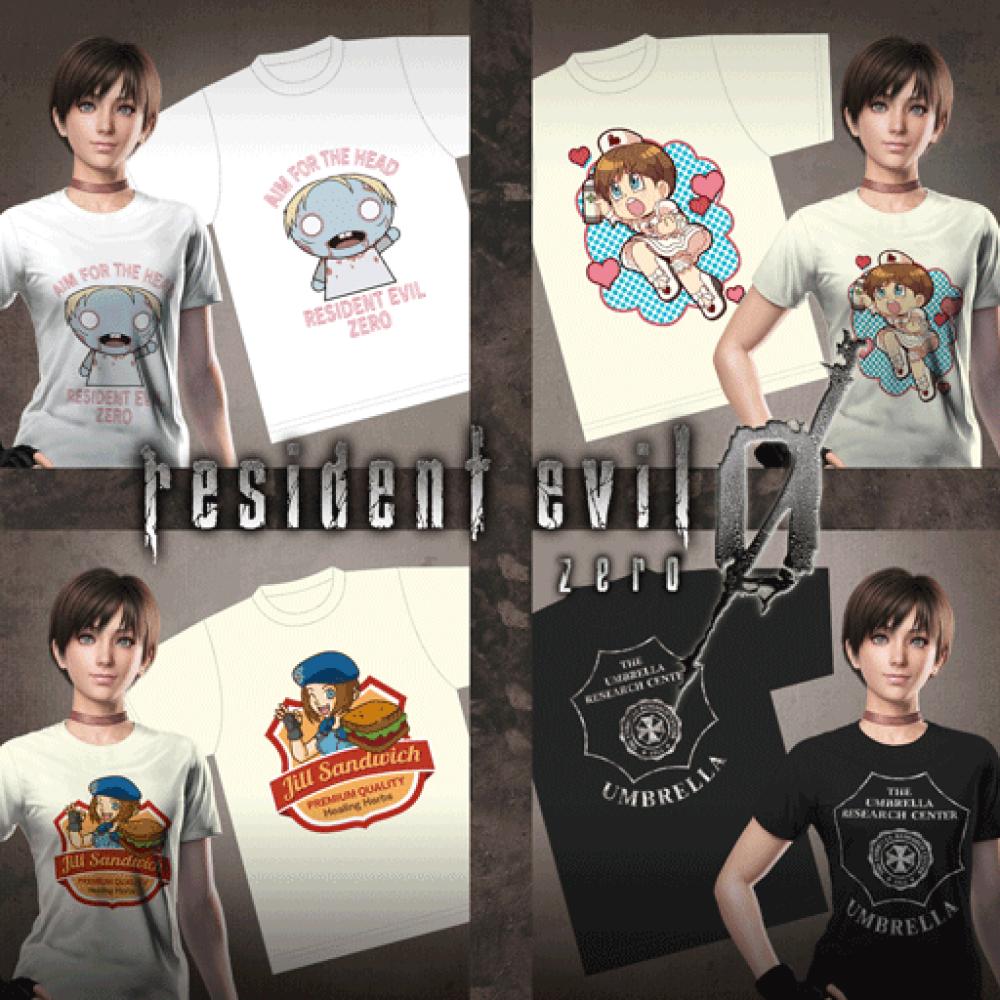 Fichier:RE0HD DLC Campaign Reward Pack T-Shirts.png