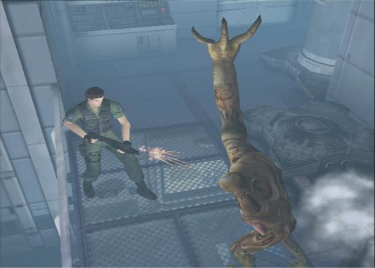 File:17378 resident-evil-code-veronica-x-chris-shooting-a-bandersnatch.jpg