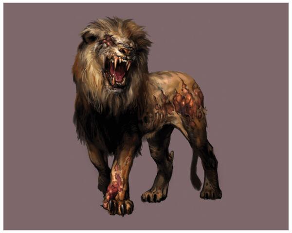 File:Resident Evil Outbreak - Zombie Lion (Male) CG art 2.jpg