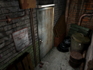 Resident Evil 3 background - Uptown - warehouse back alley a1 - R10200