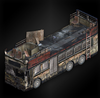 The bus (lanshiang) diorama