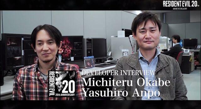 File:Resident Evil 20th Anniversary Interview Yasuhiro Ampo and Michiteru Okabe.jpg