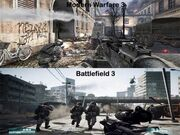 Modern Warfare - Battlefield comparison