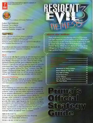 Resident Evil Nemesis Prima's Official Strategy Guide (1)