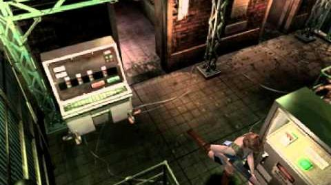 Resident Evil 3 Nemesis cutscenes - Zombies invading the Substation (Head to the emergency exit)