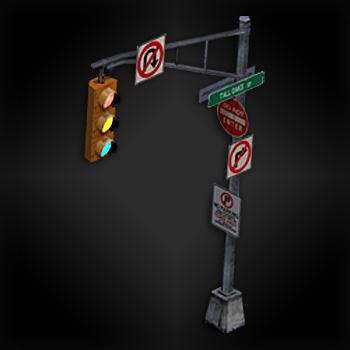 File:RE.net Diorama figure Road Sign.jpg