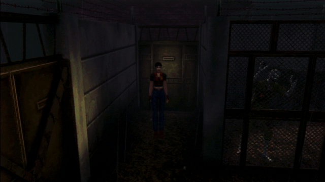 File:Resident Evil CODE Veronica - square in front of the guillotine - gameplay 01.png