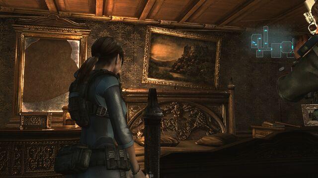 File:Resident Evil Revelations - Jill Valentine - Spencer Estate painting in the Queen Zenobia.jpg