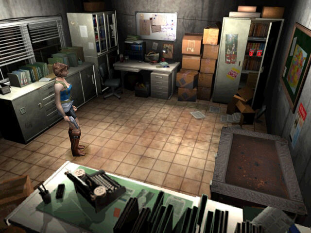 File:Resident Evil 3 screenshot - Jill in Warehouse office.jpg