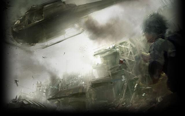File:Resident Evil 5 Biohazard 5 Background Chaos of the Battle.jpg