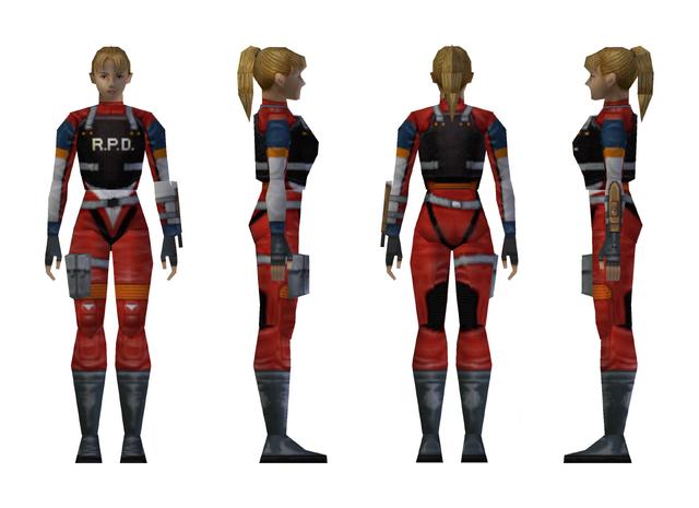 File:Resident Evil 2 - Elza Walker RPD armor model.png