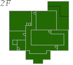 Resident Evil 2 prototype - Police Station map - 2F