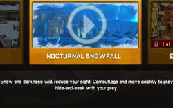 Nocturnal Snowfall Map