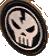 Skull badge icon