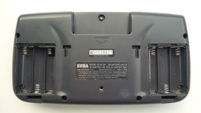 File:Sega Game Gear rear battery compartments open.jpg