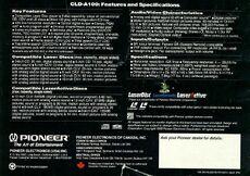 Pioneer LaserActive specs