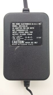 TurboGrafX-16 power supply top