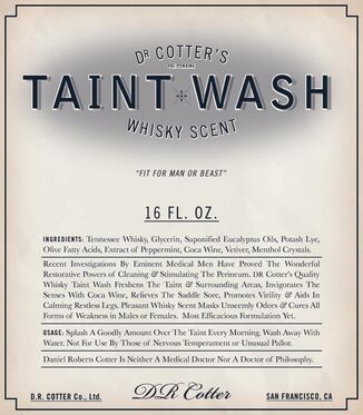 Taint-warsh-label