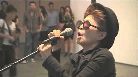 Yoko Ono Sings the Star Spangled Banner