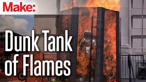 Flambé Flaming Dunk Booth by Two Bit Circus at Kansas City Maker Faire