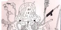 Alien Ghost Robot