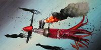 Rocket-propelled squid