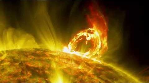 NASA Arching Eruption