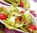 Gurkensalat mit Melone und Kerbel