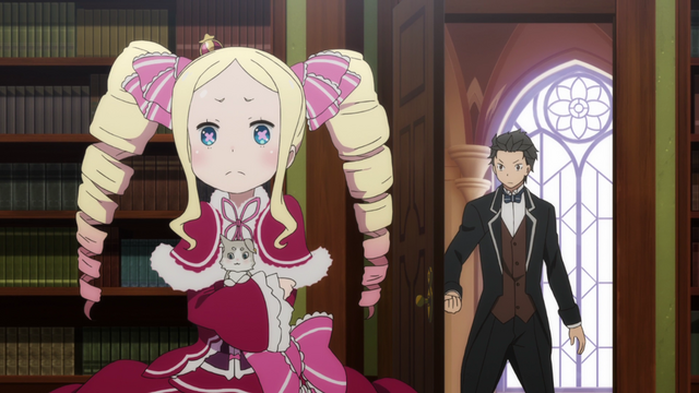 File:Beatrice, Pack and Subaru - Re Zero Anime BD - 2.png