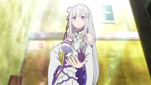 File:Emilia and Pack - Re Zero Anime BD - 1.png