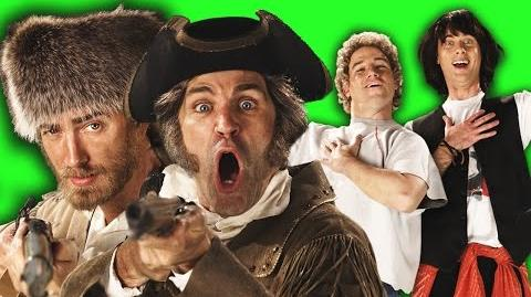 Lewis and Clark vs Bill and Ted. Behind the Scenes of Epic Rap Battles of History