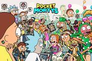 Pocket mortys rickmobile stickers