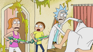 Opening summer and morty with guns