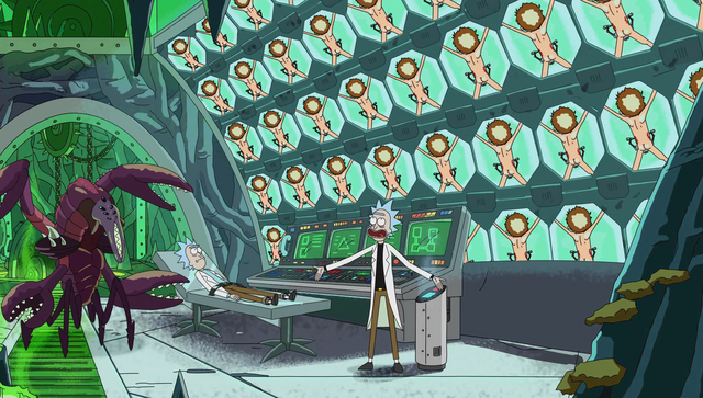 File:S1e10 evil rick sowing off.png