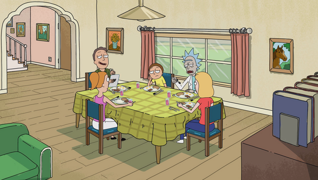 File:The Smiths and the Sanchez sitting around the din-din table.png