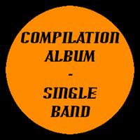 Compilation Album Single Band Button