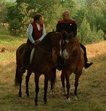 Startrek Picard Kirk riding