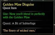 Golden Maw Disguise